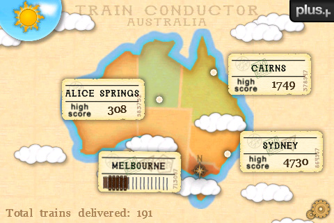 The Main Menu of Train Conductor